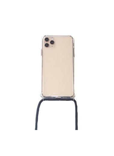 marstec Apple Iphone 11 Pro  Siyah Boyun Askılı  Şeffaf Telefon Kılıfı Siyah